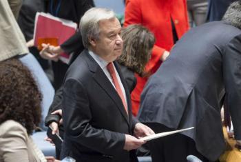 António Guterres na reunião do Conselho de Segurança sobre Crianças e Conflito Armado. Foto: ONU/Rick Bajornas