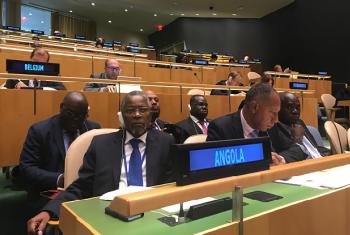 Embaixador Apolinário Jorge Correia chefiou a comitiva de Angola que trabalhou na votação na Assembleia Geral.