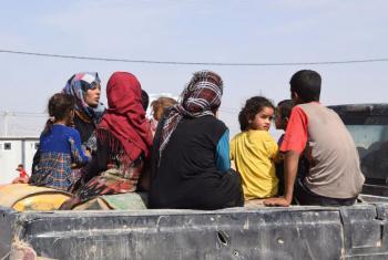 Mulheres e crianças deslocadas no norte do Iraque. Foto: OIM