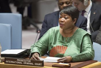 Fatou Bensouda, procuradora-chefe do Tribunal Penal Internacional, TPI, fala ao Conselho de Segurança sobre situação na Líbia. Foto: ONU / Eskinder Debebe