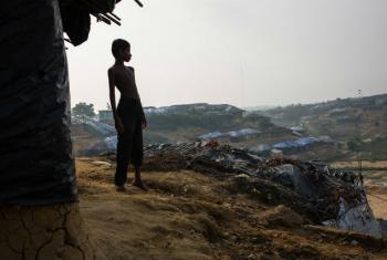 Os rohingya sofreram um nível de violência sem precedentes e foram obrigadas a abandonar suas casas e escolas no estado de Rakhine. Foto: Unicef/Nybo