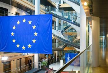 Parlamento Europeu em Estrasburgo. Foto: ONU/Rick Bajornas