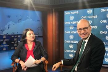 Embaixador de Portugal junto às Nações Unidas, Francisco Duarte Lopes, fala à ONU News. Foto: ONU News