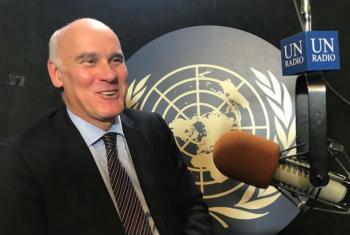 Embaixador João Vale de Almeida nos estúdios da ONU News, em Nova Iorque. Foto: ONU News