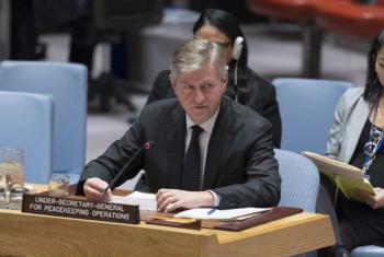 O subsecretário-geral do Departamento de Operações de Paz da ONU, Jean-Pierre Lacroix. Foto: ONU/Rick Bajornas