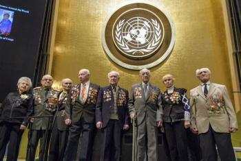 Sobreviventes do Holocausto no evento realizado na Assembleia Geral da ONU. Foto: ONU/Manuel Elias