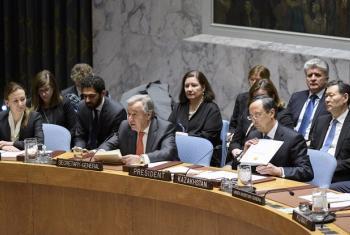 António Guterres disse que, em primeiro lugar, deve haver novos esforços para gerir melhor os recursos hídricos. Foto: ONU/Manuel Elias.