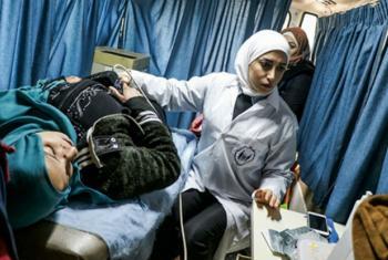 Equipes do Unfpa ajudam mulheres na Síria. Foto: Unfpa Síria