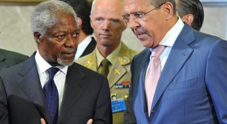 Кофи Аннан и Сергей Лавров / Фото ООН