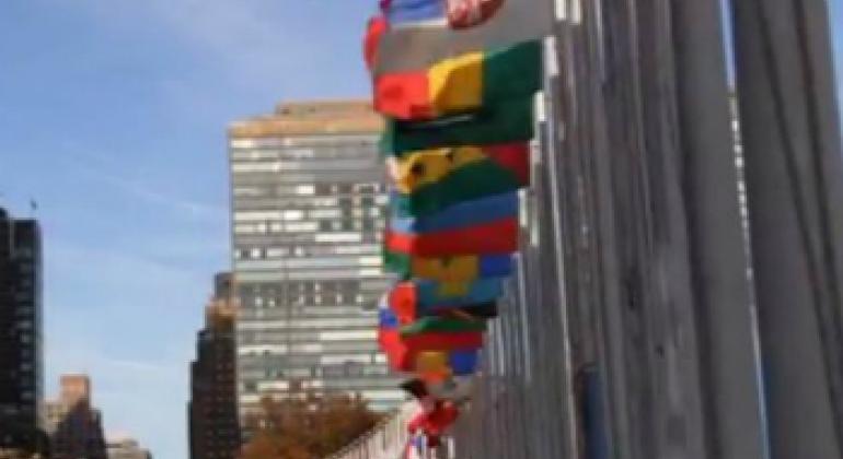 Флаги в ООН. Фото ООН