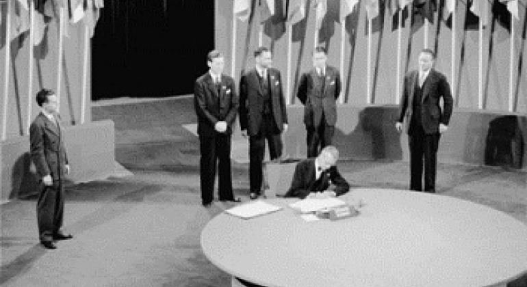 Подписание Устава новой международной организации. Фото ООН