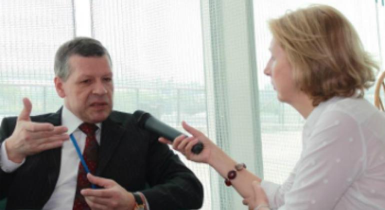 Валентин Рыбаков и Елена Вапничная. Фото ООН