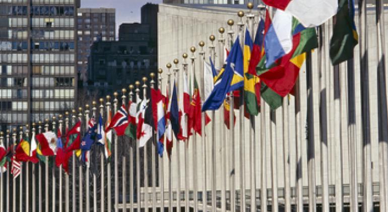 Флаги государств-членов ООН. Фото ООН