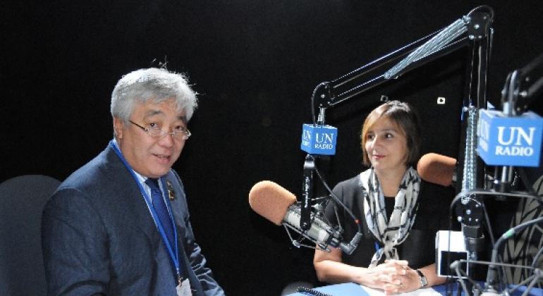 Министр иностранных дел Республики Казахстан Ерлан Идрисов. Фото ООН