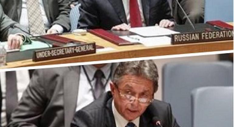 Представители России и Украины в Совете Безопасности. Фото ООН