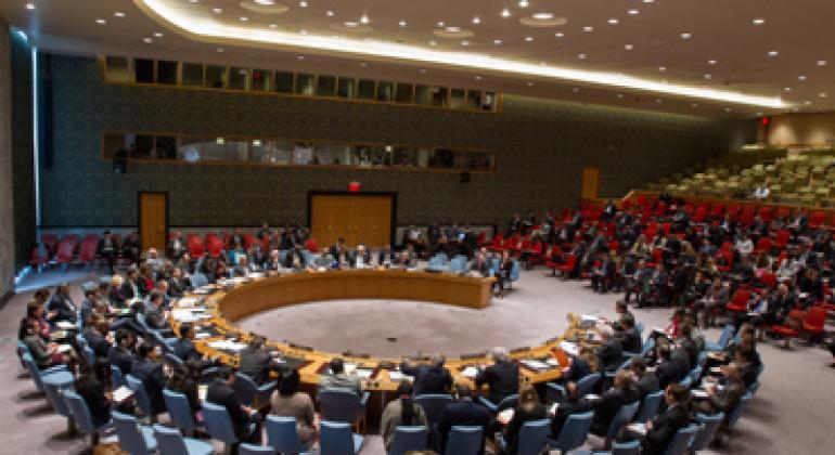 Совет Безопасности во время заседания. Фото ООН
