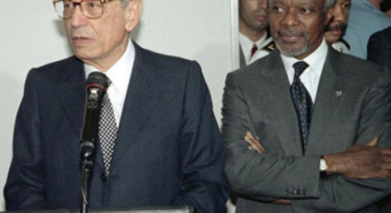 Бутрос Бутрос-Гали и Кофи Аннан. Фото ООН