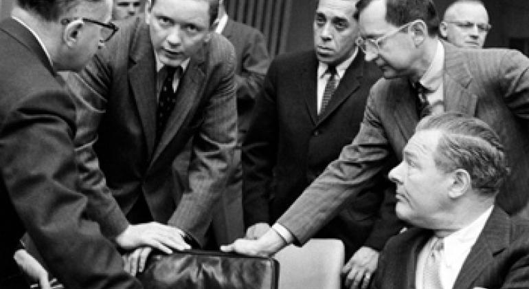 Первое заседание Комитета ООН по использованию космического пространства в мирных целях, 6 мая 1959 г. Фото ООН