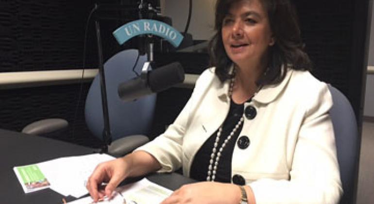 Исполнительный директор офиса ВОЗ в Нью-Йорке Ната Менабде. Фото Радио ООН