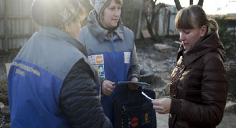 Мобильная бригада. Фото ЮНФПА