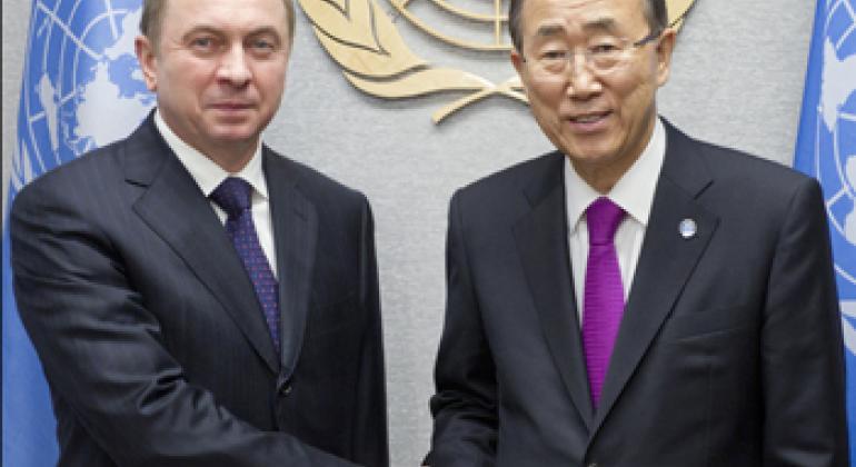 Владимир Макей и Пан Ги Мун. Фото ООН