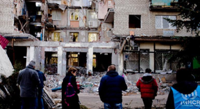 Последствия боевых действий на Украине. Фото УКГВ ООН