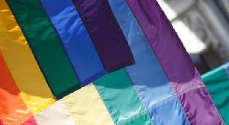 Флаг ЛГБТИ-движения. Фото ЮНЭЙДС