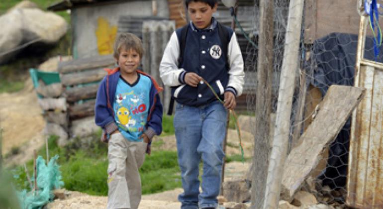 Вынужденные переселенцы в Колумбии. Фото ООН