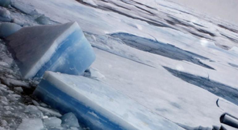 Арктические льды. Фото ООН/Марк Гартен