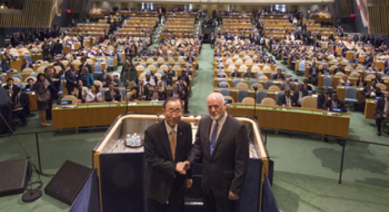 Генеральный секретарь ООН и Председатель Генеральной Ассамблеи. Фото ООН