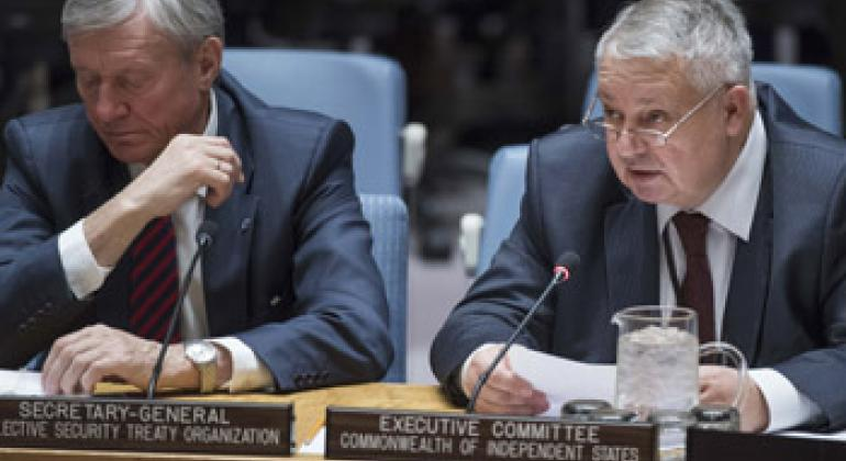 Николай Бордюжа и Сергей Иванов на заседании СБ ООН. Фото ООН