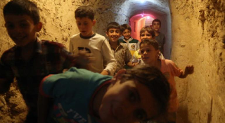 «Дети подземелья» в Алеппо. Фото ЮНИСЕФ