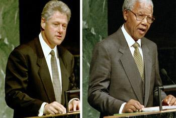 Билл Клинтон и Нельсон Мандела/Фото ООН