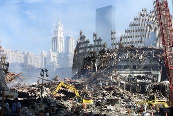 Разрушения после 11 сентября 2001 года. Фото ООН