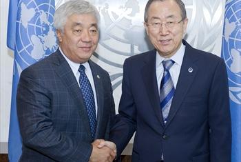 Е. Идрисов и Пан Ги Мун. Фото ООН