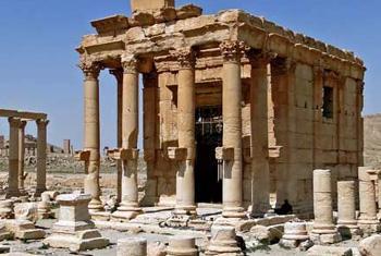 Разрушенный боевиками ИГИЛ храм Баал-Шамин в Сирии. Фото ЮНЕСКО/Б. Ганон