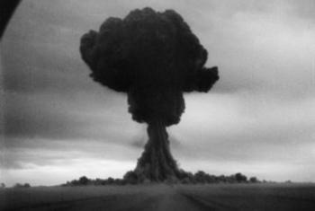 Первое в СССР испытание ядерного оружия на Семипалатинском полигоне. 29 августа 1949 года.