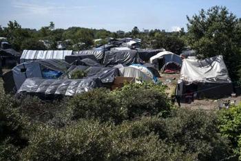 Палаточные лагеря беженцев в Кале. Фото УВКБ / Лабан-Маттей