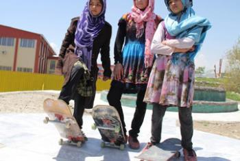 Проект «Девочка на скейтборде» в Афганистане. Фото ЮНИСЕФ