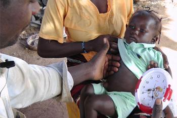 Ребенок с пневмонией. Фото ООН