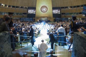 Визит Папы Римского Франциска в ООН. Фото ООН
