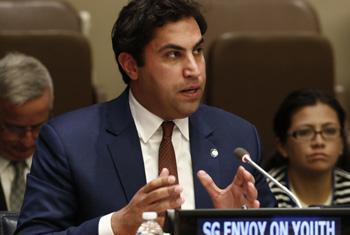 Посланник Генерального секретаря ООН по делам молодежи Ахмед аль-Хиндави. Фото ООН