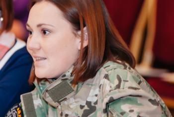"""Боец батальона """"Айдар"""" Виктория Дворецкая. Фото «ООН-женщины»"""