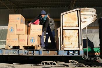 Доставка продовольствия в Мадаю. Фото ВПП