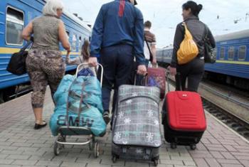 Украинские мигранты.Фото УВКБ/И.Зимова