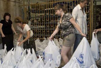Распределение гуманитарной помощи. Фото УВКБ