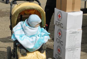 Гуманитарная помощь украинским переселенцам. Фото МККК