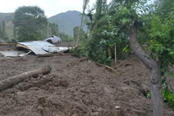 Последствия селевого потока в Раште. Фото ООН в Таджикистане