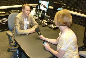 Евгений Миронов во время интервью Радио ООН. Фото Радио ООН