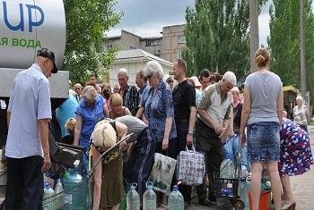 Украинские беженцы. Фото ООН